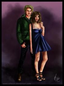Hugo and Liz, by elfdust